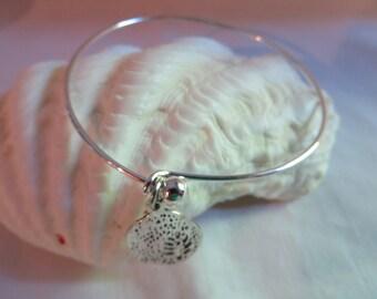 Tree Charm Bangle Bracelet with Matching Earrings, Bracelet, Earrings, Tree, Charm