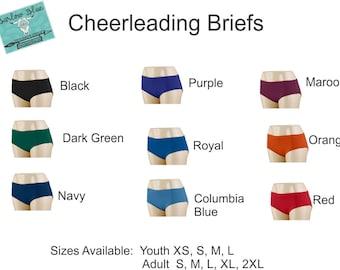 Briefs / Bloomers !  Cheerleading Uniform Accessories.