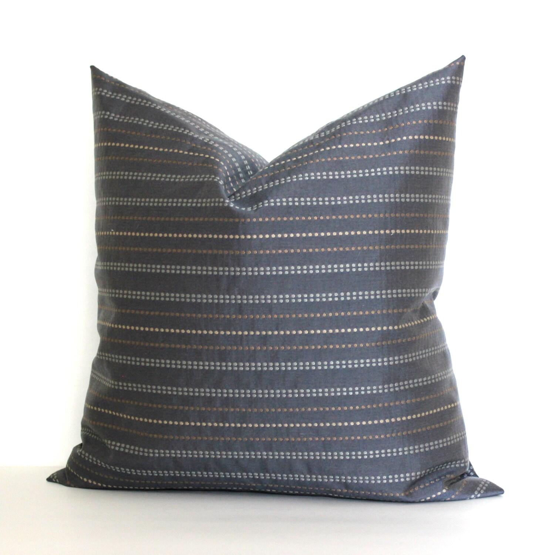 Modern Family Pillow Stripe : Grey Pillow Cover Modern Stripe Upholstery Fabric Decorative
