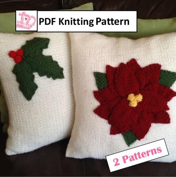 Christmas Knitting Pattern bundle, Holly Leaves 12