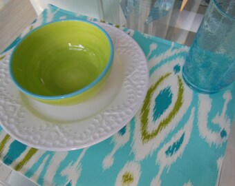 Ikat Placemats -  Customize Your Own Pillowscape Reversible Placemats - You Select The Fabrics To Coordinate With Your Home Decor