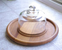 Wooden Cheese Board with Cloche