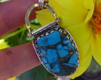 R215--Copper Turquoise  Pendant