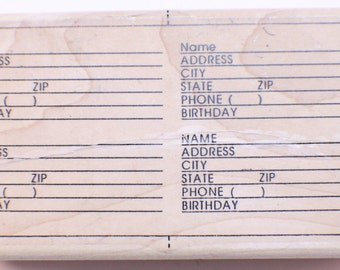 Limited Edition Wooden Rubber Stamp Address Book  1997