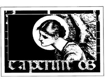 Stampington And Co Wooden Rubber Stamp Angelic Host Angelic Woman Lady