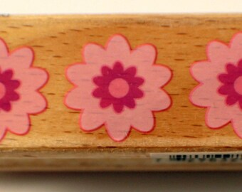 Flower Daisy Trio Hampton Arts Studio G Wooden Rubber Stamp