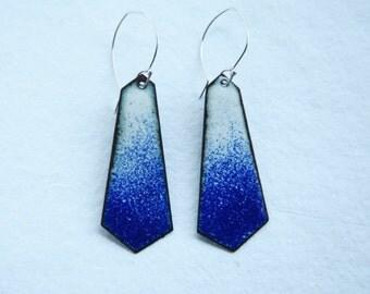 Ombre, Dangle Earrings, Colorful Earrings, Blue Earrings, Statement Earrings, Geometric Earrings