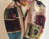 Book Scarf, Literature scarf, book scarves, uk literary scarves, by rooby lane