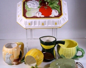 Vintage Odd Lot Veggie Collection from 1970s