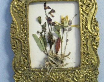 Doll House Miniature Dried Pressed Flower Wall Hanging #25