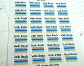 Wash Sheets Planner Stickers