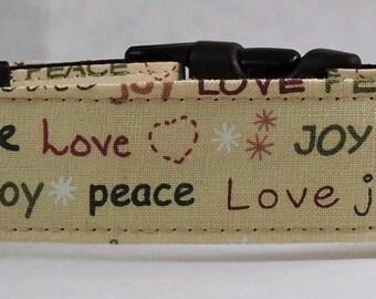 Christmas Dog Collar - Dog Collar, Martingale Collar, Cat Collar - All Sizes   - Joy Words