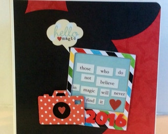 Disney scrapbook mickey mouse premade pages chipboard board book- 8 x 8 album