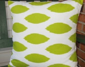 Lime Green Throw Pillow COVER Chartreuse Chipper Couch Pillow ALL SIZES One or More Nursery Cushion Lime White Cottage Cushion Accent Shams