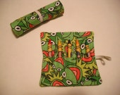 Kermit the Frog Birthday Party Favors, Crayon Roll Up, Kermit, Kermit the Frog, Kermit Favors, Kermit the Frog Birthday, Frog Favor, Favor