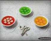 Miniature dollhouse fruit jelly dessert, 12th scale food
