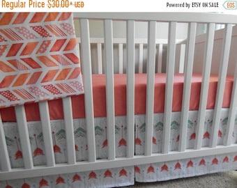 Double Pleat Crib Skirt In 2d Zoo By Graceandcruz On Etsy