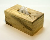 "The BlackWater TBC -  Spalted Hackberry Tissue Box Cover ""Tall"""