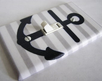 NAUTICAL ANCHOR Light Switch Cover Plate Switchplate Nautical Decor