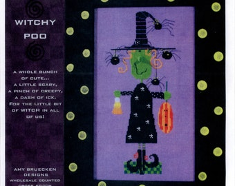 Amy Bruecken Designs: Witchy Poo - Cross Stitch Pattern with Embellishments
