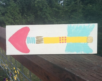 Feather Painted on Reclaimed Wood Girls Bedroom Art