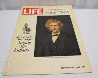 Life Magazine December 1968, Mark Twain, Campbells, Joe Namath, NFL, Whales, vintage advertising