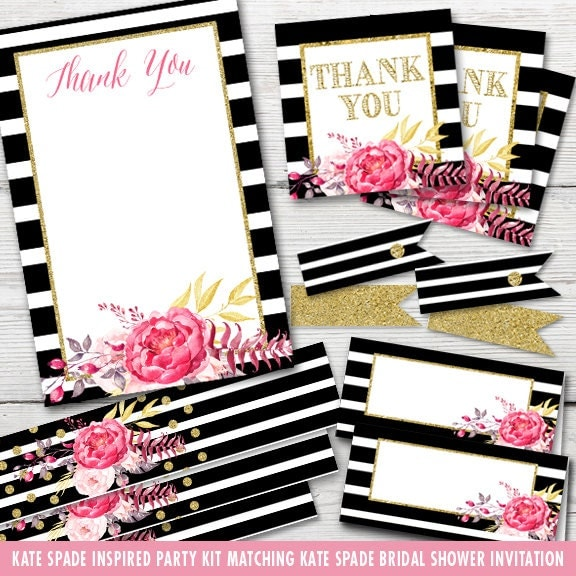 Inspired Kate Spade Bridal Shower Party Kit By Partymonkey