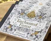 Enchanted Forest 20 Postcards : Adult Coloring Book Johanna Basford doodling doodles ink drawings coloring artist