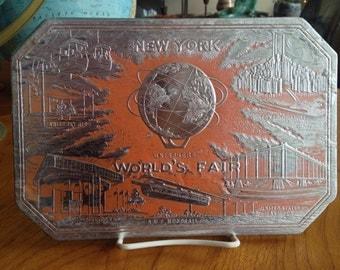 1964 New York World's Fair Foil Trivet Set