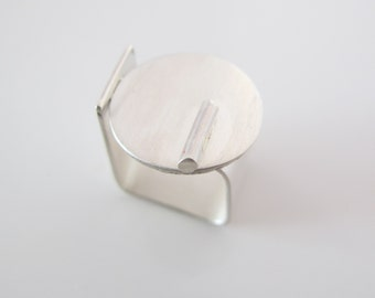 Sterling Silver square ring, geometric, wide band ring,  modern, simple, elegant, contemporary, every day, gift for her