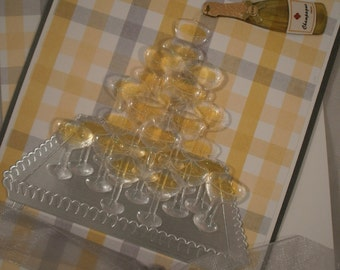 Wedding Card, Champagne Tower Card, Wedding Day Card, Card for Wedding, Card for Couple, Best Wishes Card