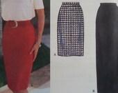 SLIM SKIRT Pattern • Simplicity 9084 • Miss 16-22 • Dart-Fit Skirt • Maxi Skirt • Vented Skirt • Skirts • Modern Patterns • WhiletheCatNaps