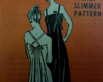 CROSS STRAP DRESS Pattern • Anne Adams 4963 • Miss 10 • Evening Dress • Bridesmaid Dress • Formal Dress • Vintage Patterns • WhiletheCatNaps