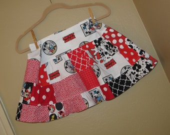 girls size 5t, 6, 6x, 7, - Disney, Mickey, Minnie twirl skirt - ready to ship