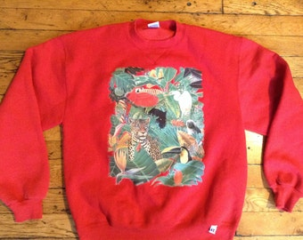 Vintage Jungle sweatshirt USA medium