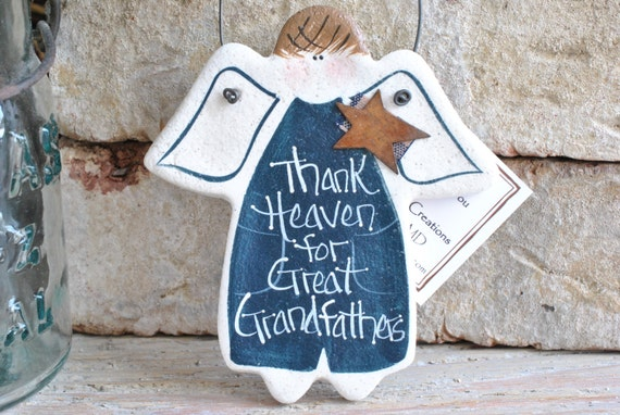 Great Grandfather Gift Salt Dough Father's Day Ornament