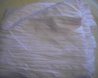 Light Mauve Cotton Blend Fabric with White Stripes