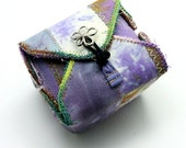 Fabric Box Purple Handmade