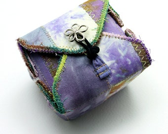 Fabric Box Purple Handmade