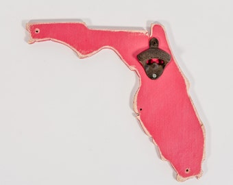 Florida Hot Pink Bottle Opener, all states and colors available