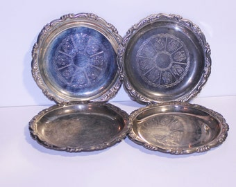 Vintage Epon Steel Coasters, Made in Italy, Vintage Silver Tone Coasters