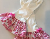 NEW*** Plain Jane PINK Lace Oilcloth Gloves - Latex Free - Not Just for Cleaning (Size Med)