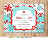 WINTER SNOWFLAKES - birthday or baby shower - You Print
