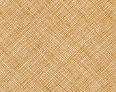 Architextures Crosshatch in Caramel, Carolyn Friedlander, Robert Kaufman Fabrics, 100% Cotton Fabric, AFR-13503-173 CARAMEL