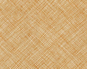 Architextures Crosshatch in Caramel, Carolyn Friedlander, Robert Kaufman Fabrics, 100% Cotton Fabric, AFR-13503-173 CARAMEL