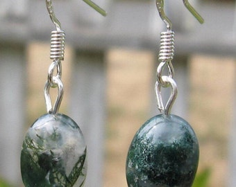 Moss Agate Earrings   #8
