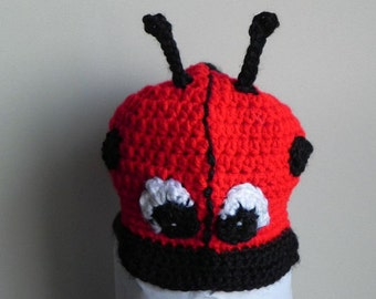 Ladybug Hat INVENTORY REDUCTION SALE Preemie to Small Newborn Size