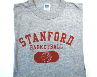 Stanford Basketball T Shirt Youth Size Medium Russell Athletic