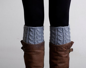 Knitted Boot Cuffs  Leg Warmers  Boot socks  Cable Boot cuffs