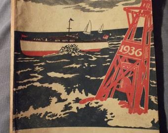 Neat, Antique, 1936s, Maritime, Nautical, Alker-Donovan Boat Supply Catalog, New Orleans,  LA, Sail Boat, Motor Boat, Yacht